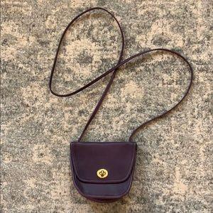 Purple Vintage COACH Mini Crossbody Bag